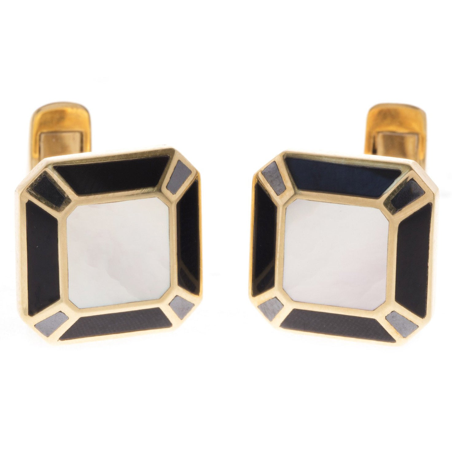 18ct Yellow Gold Men's Cufflinks, Minar Jewellers - 6