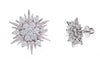 18ct White Gold Earrings set with Cubic Zirconia stones, Minar Jewellers - 4