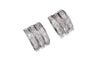 18ct White Gold Earrings set with Cubic Zirconia stones (E-2759)