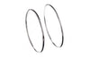 18ct White Gold Hoop Earrings, Minar Jewellers - 1