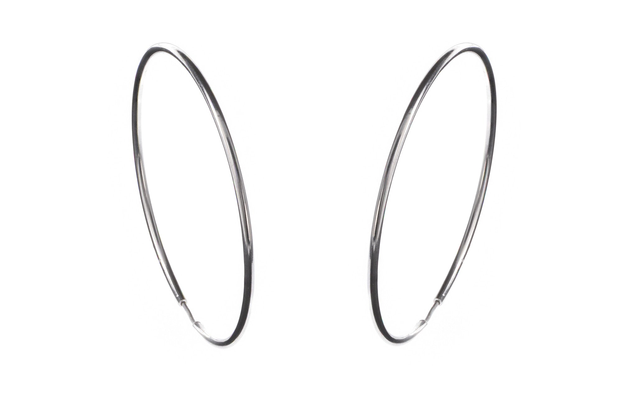 18ct White Gold Hoop Earrings, Minar Jewellers - 4