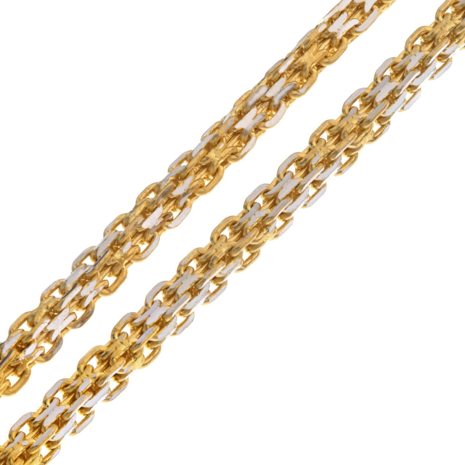 "22ct Two Tone 22"" Gold Chain, Minar Jewellers - 1"