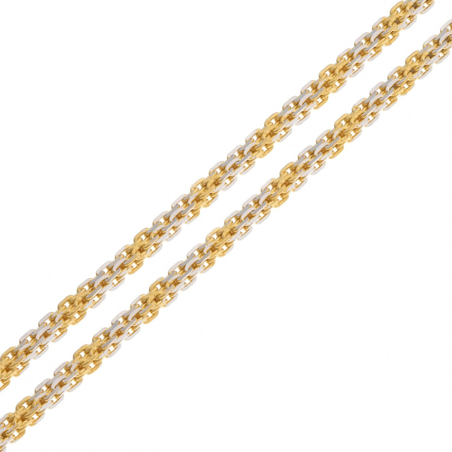 22ct Gold Chain with Rhodium Design C-2791