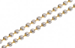 "22ct Two Tone 16"", 18"" or 22"" Gold Bead Chain, Minar Jewellers - 1"