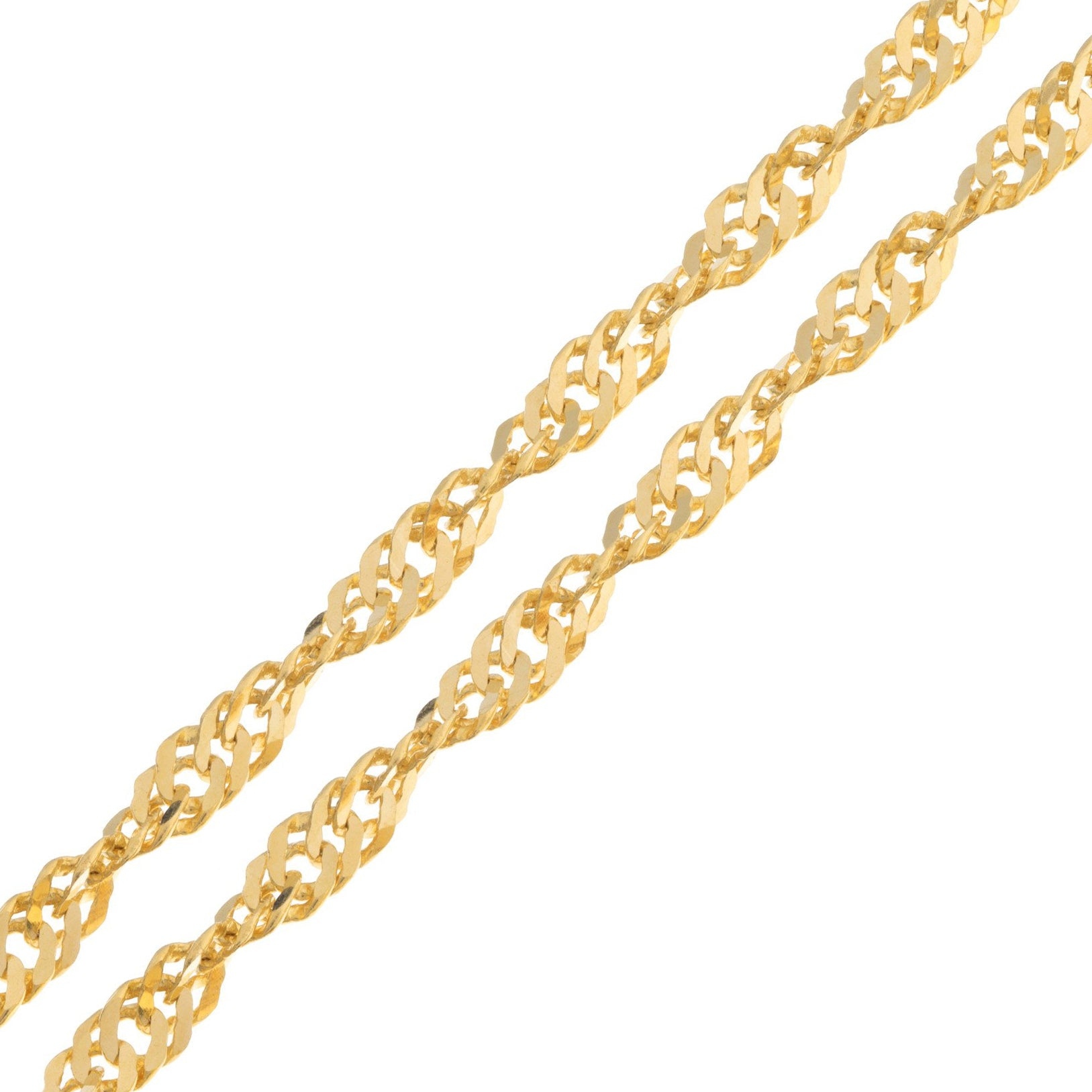 "22ct Yellow Gold 18"" or 24"" Ripple Chain, Minar Jewellers - 1"