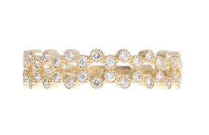 18ct Yellow Gold Cubic Zirconia Half Eternity Ring, Minar Jewellers - 3
