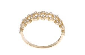 18ct Yellow Gold Cubic Zirconia Half Eternity Ring, Minar Jewellers - 5