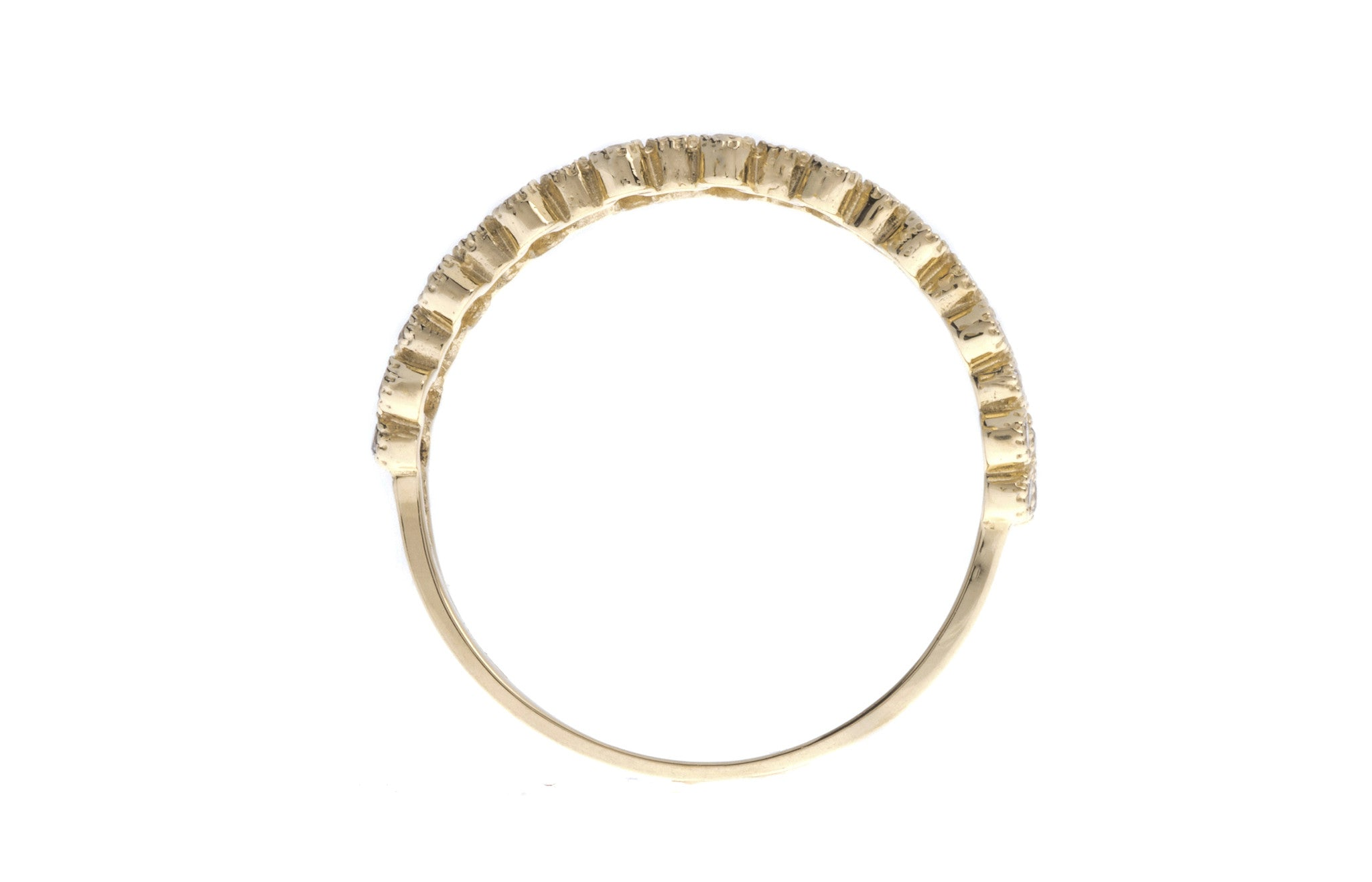 18ct Yellow Gold Cubic Zirconia Half Eternity Ring, Minar Jewellers - 6
