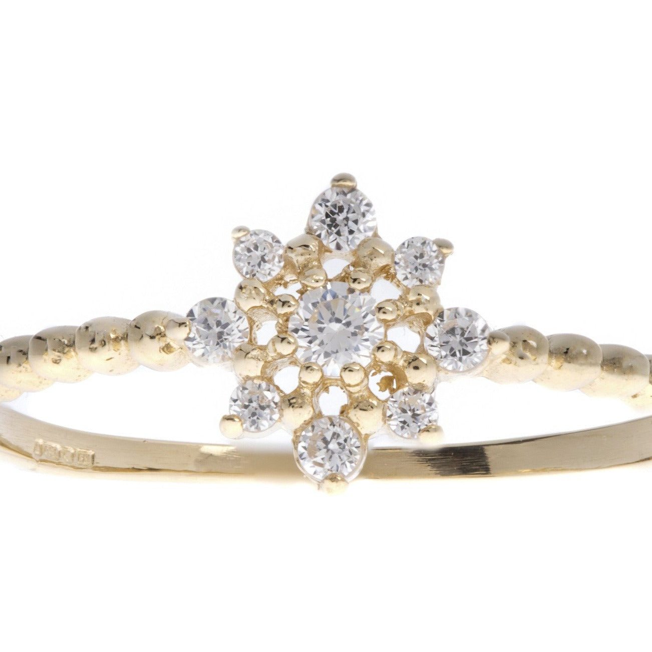 18ct White / Yellow Gold Cubic Zirconia Dress Ring, Minar Jewellers - 3