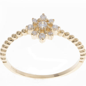 18ct White / Yellow Gold Cubic Zirconia Dress Ring, Minar Jewellers - 5
