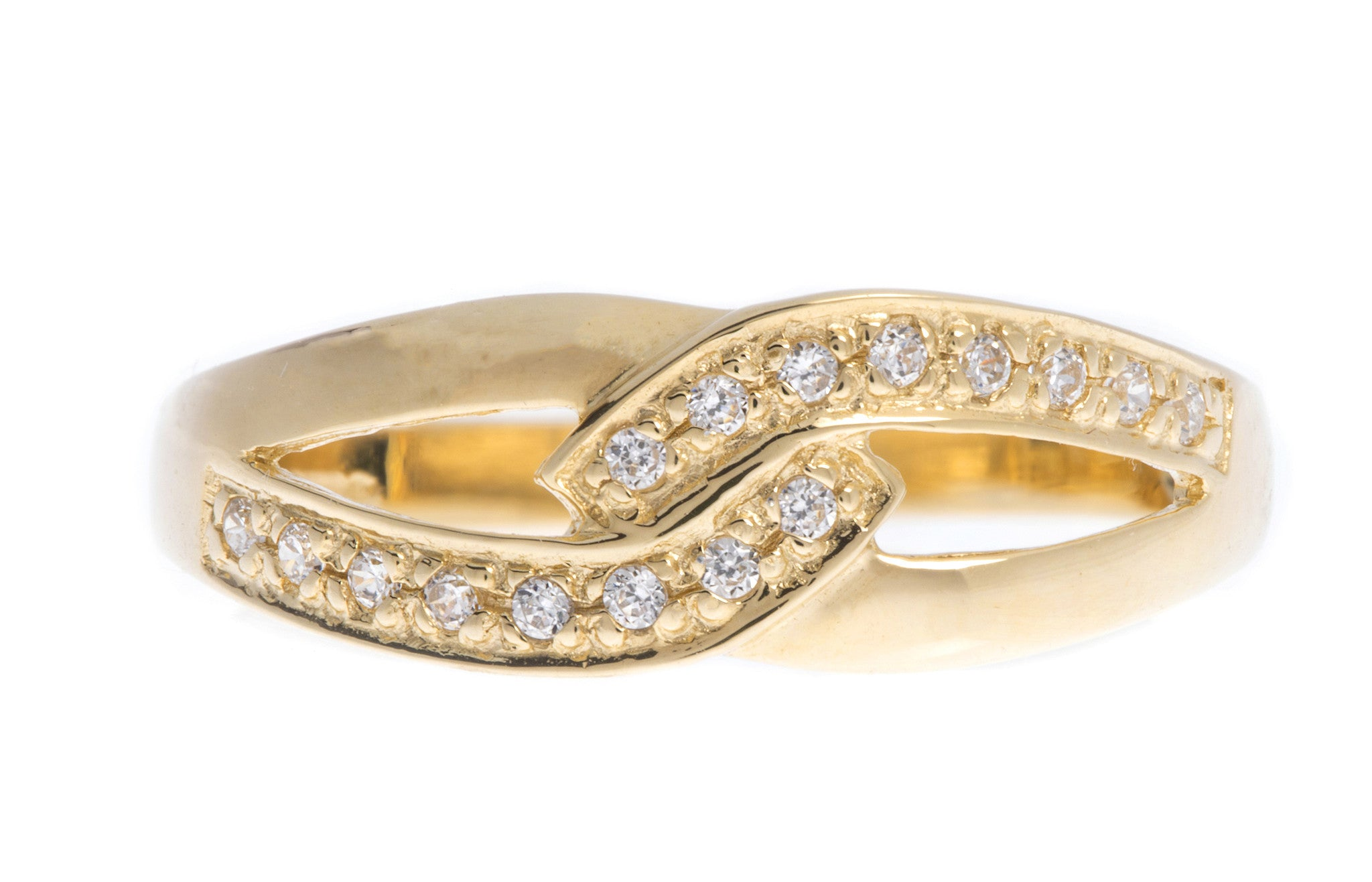 18ct Yellow Gold Cubic Zirconia Dress Ring, Minar Jewellers - 3