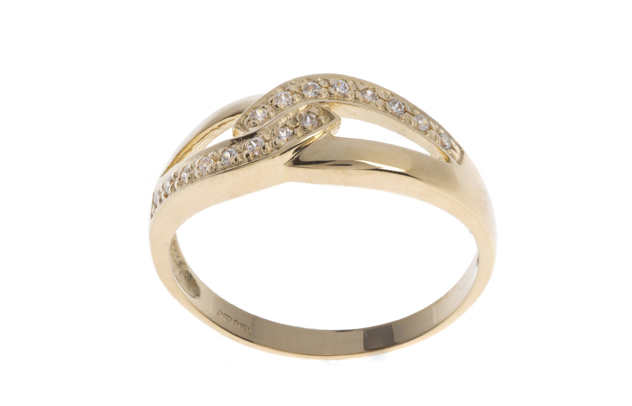 18ct Yellow Gold Cubic Zirconia Dress Ring, Minar Jewellers - 5