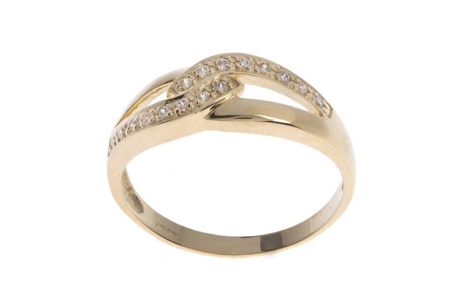 18ct Gold Cubic Zirconia Dress Ring (LR-2873)