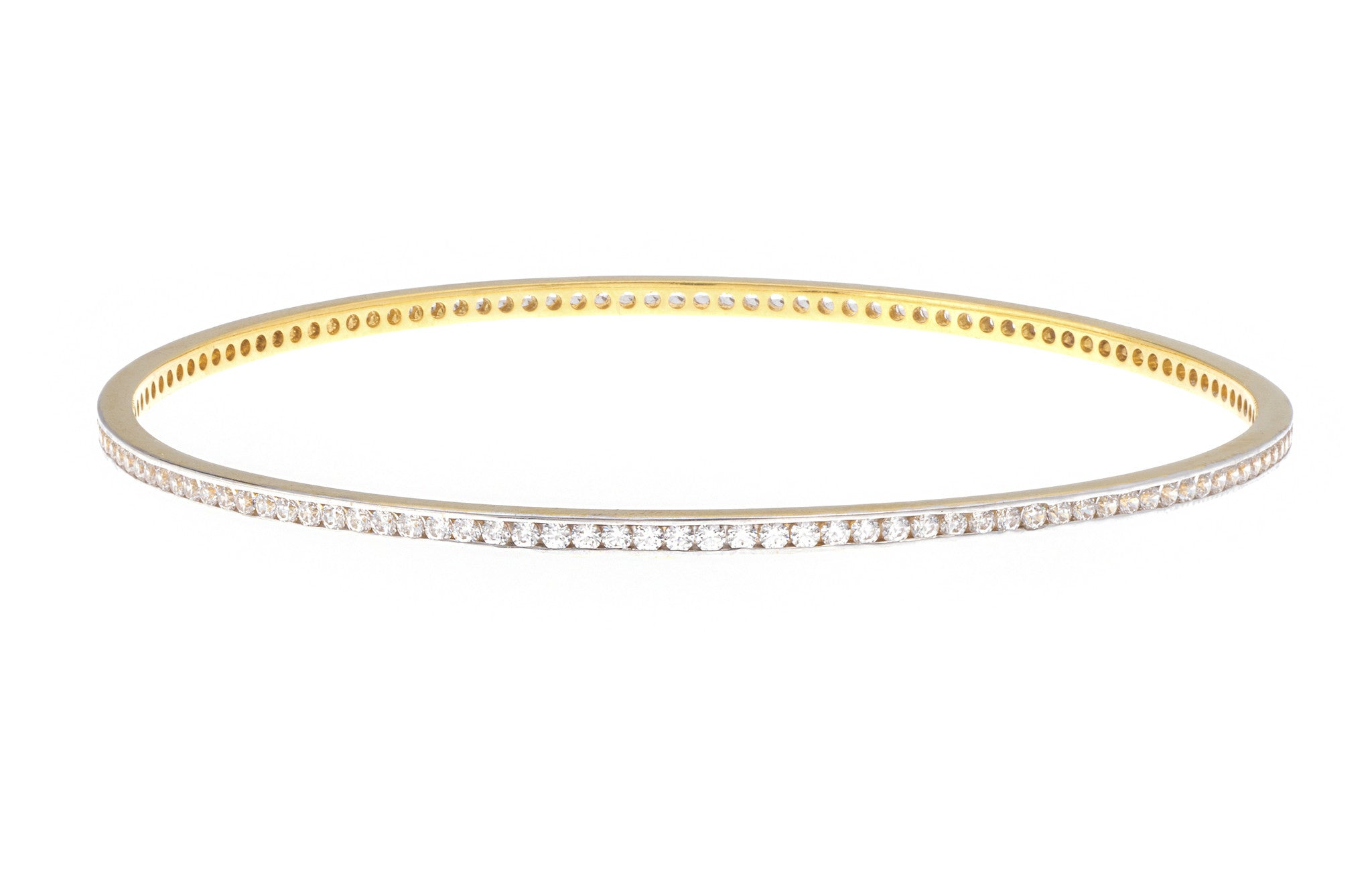 Stone Set 22ct Yellow Gold Bangle, Minar Jewellers - 1