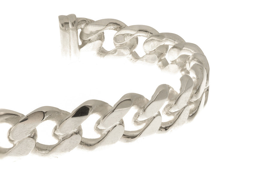 Sterling Silver Torque Men's Bangle, Minar Jewellers - 1