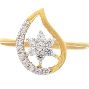22ct Yellow Gold Cubic Zirconia 'Mango' Dress Ring, Minar Jewellers - 2
