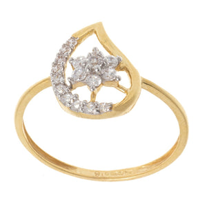 22ct Yellow Gold Cubic Zirconia 'Mango' Dress Ring, Minar Jewellers - 3