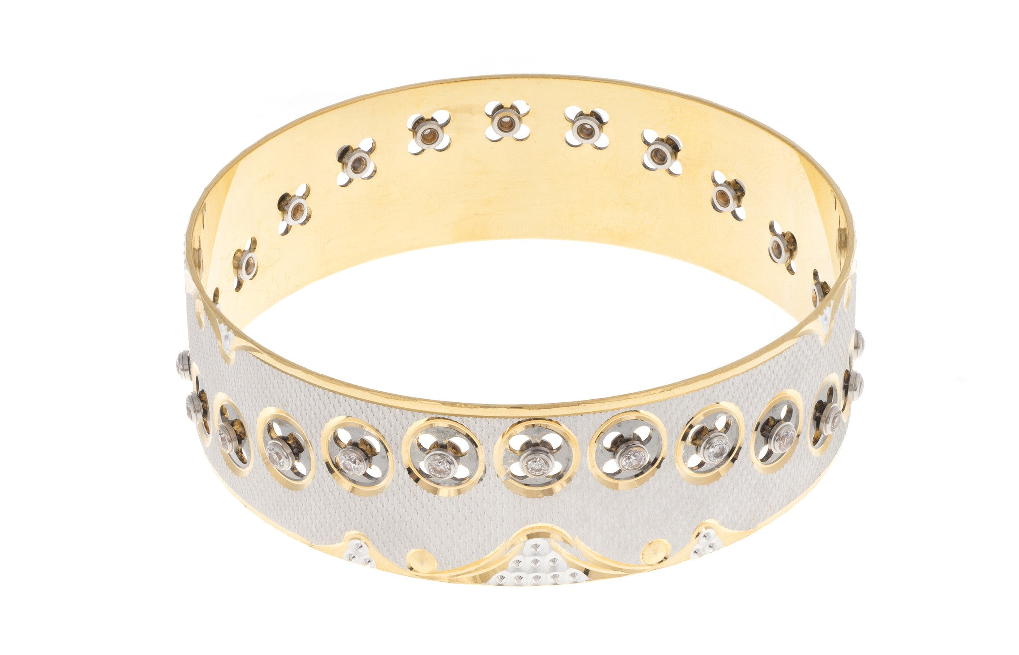 22ct Yellow Gold & Cubic Zirconia Bangle (G1986), Minar Jewellers - 2