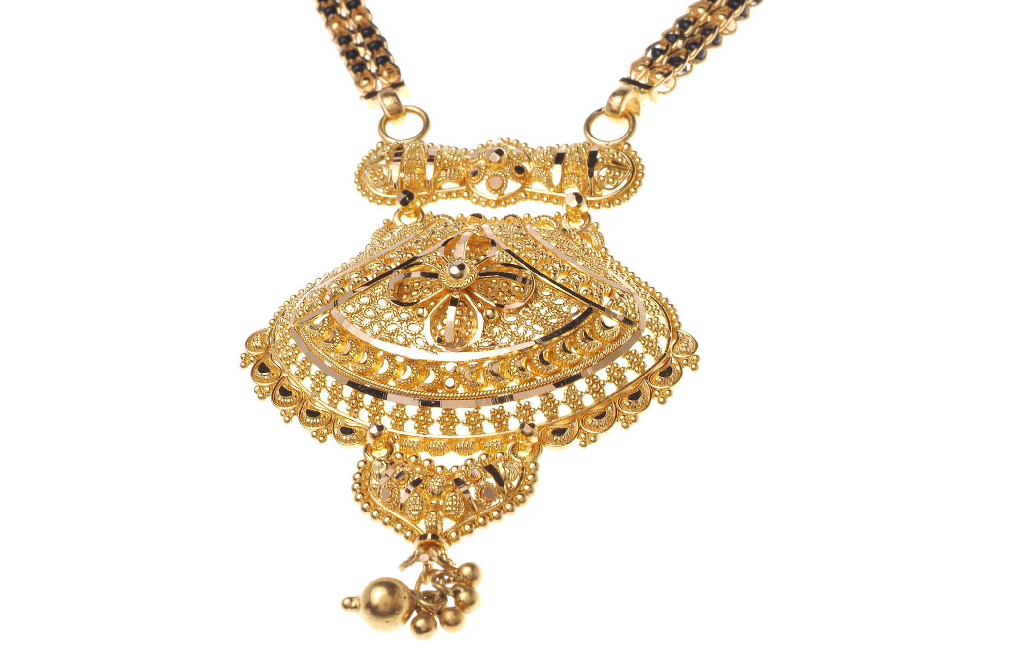 22ct Gold Mangal Sutra Necklace with hook clasp (MS-6467)
