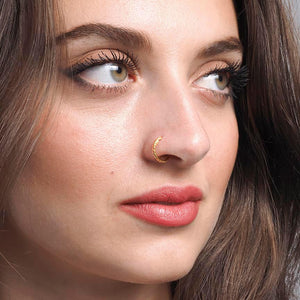 22ct Plain Gold Nose Ring (N-4594)
