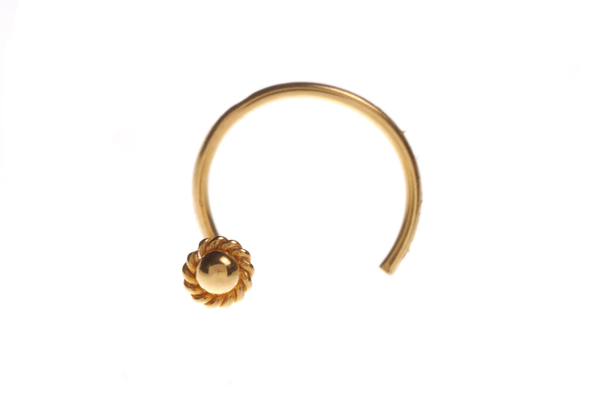 18ct Gold Nose Stud Wire Coil Back NS-4693