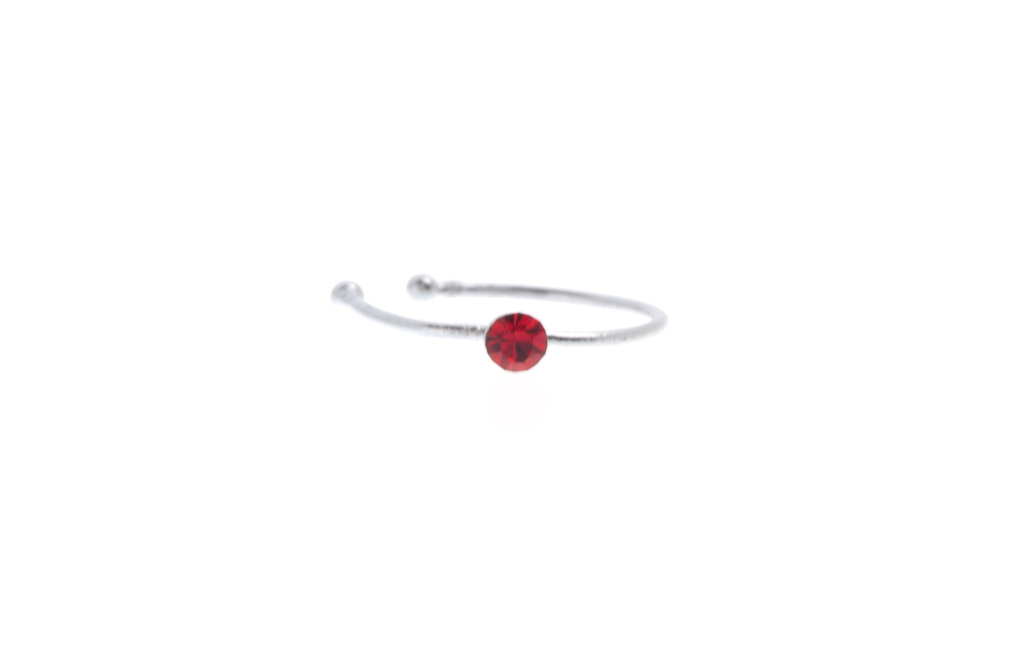 Silver Cubic Zirconia Nose Ring (NR-SILV-D)