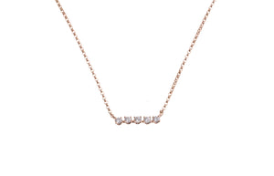 18ct Rose Gold Diamond Necklace NY11217-3