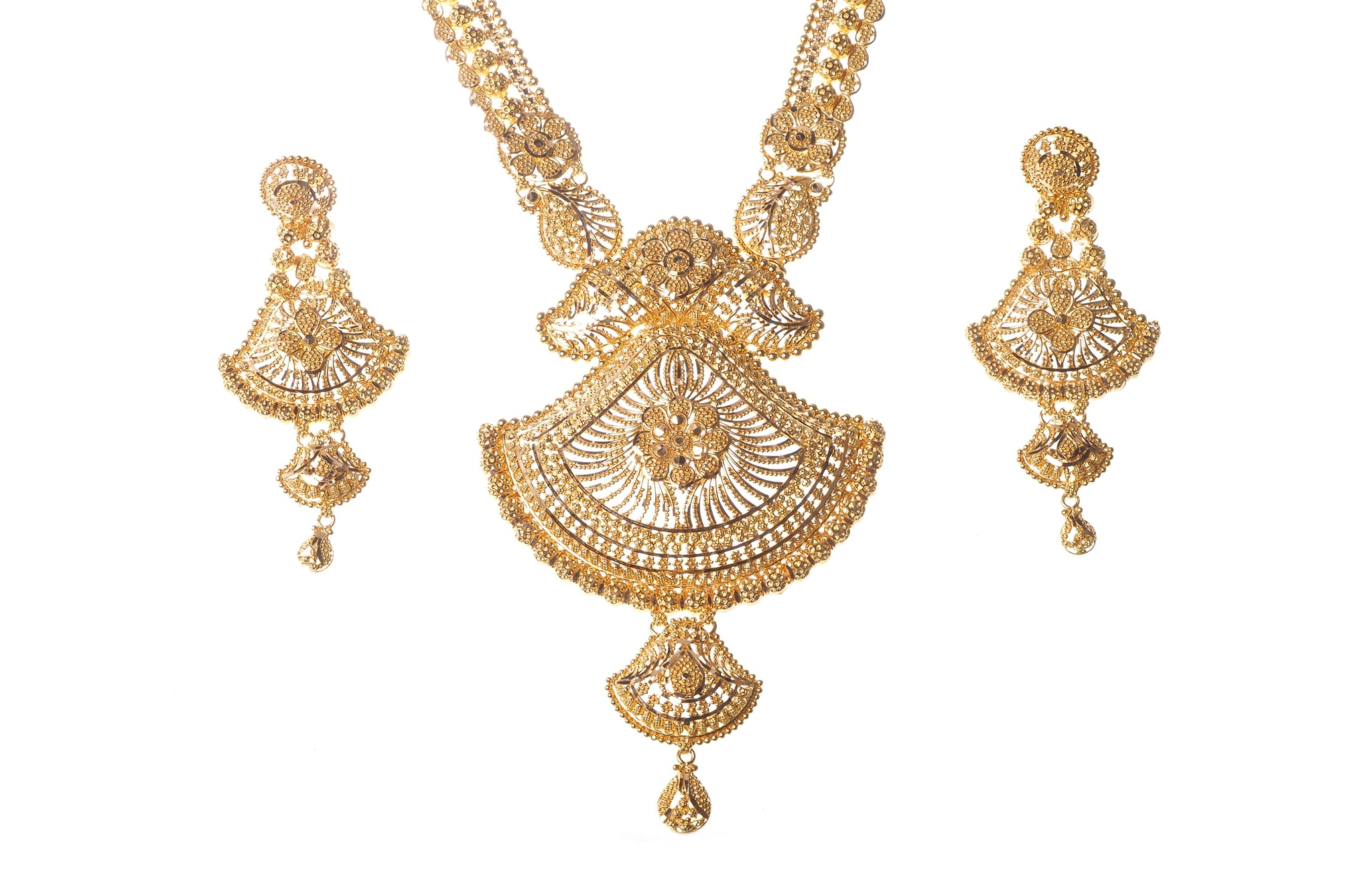 22 Carat Gold Necklace & Earring Set (N&E-6265) (online price only ...