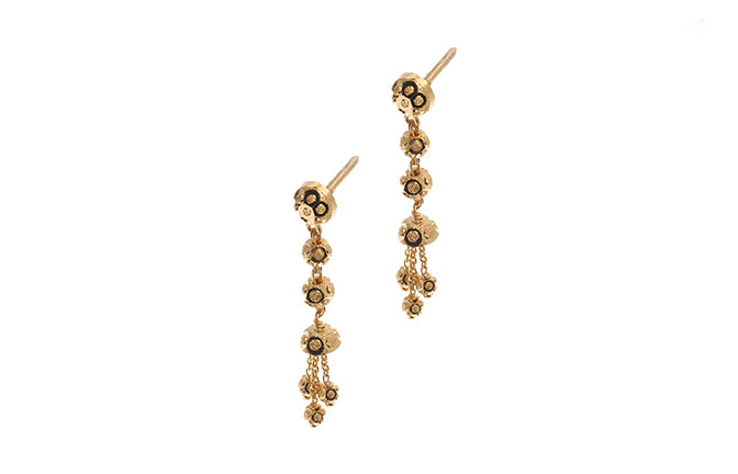 22ct Gold Drop Earrings (E-6258) (online price only)