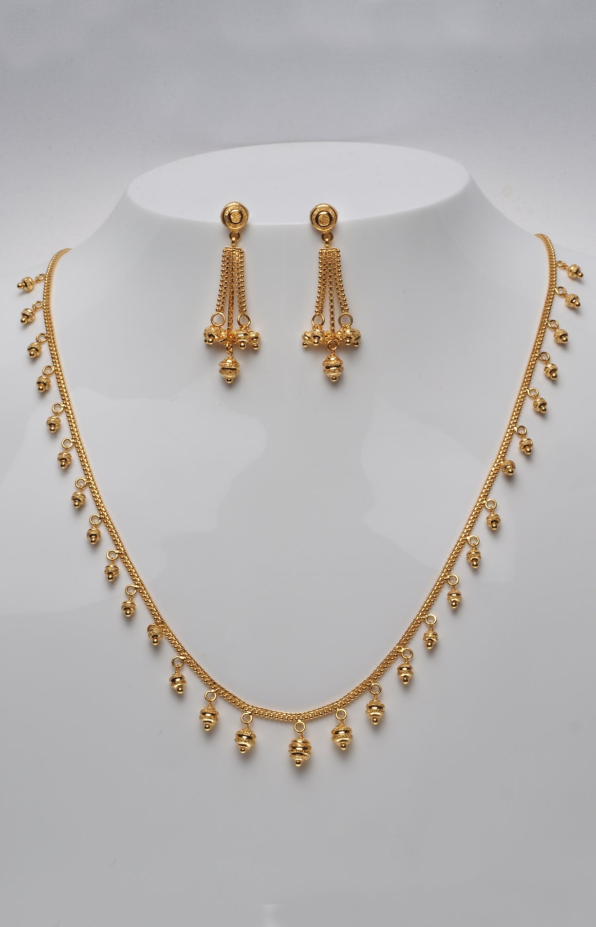 22 Carat Gold Necklace and Earring Set (N&E-6259)
