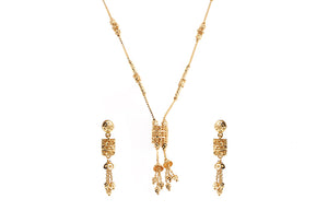 22 Carat Gold Necklace and Earring Set (N&E-6260)