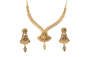 22ct Gold Necklace and Earrings Set (N&E-6470)
