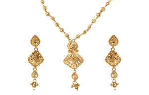 22 Carat Gold Necklace and Earrings Set (N&E-6472)