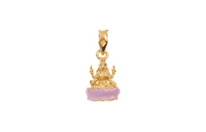 22ct Yellow Gold Lakshmi Pendant (G5329), Minar Jewellers - 2