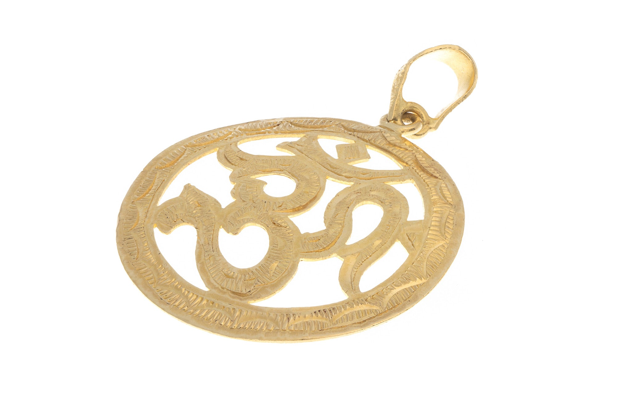 22ct Yellow Gold Om Pendant, Minar Jewellers - 1