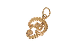 22ct Yellow Gold Trishul Pendant (G5318), Minar Jewellers - 1