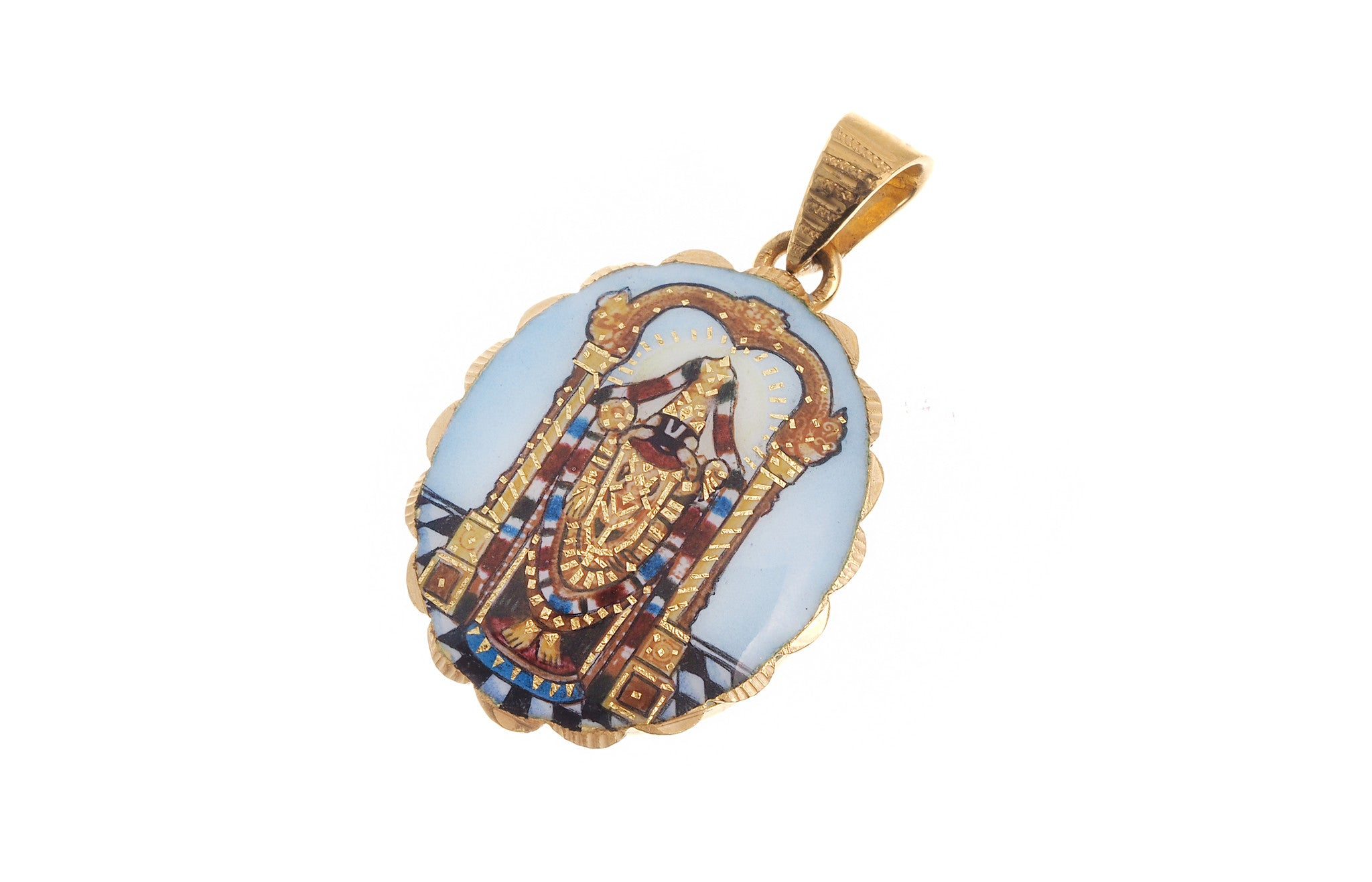 22ct Yellow Gold Balaji Pendant (G5323), Minar Jewellers - 1