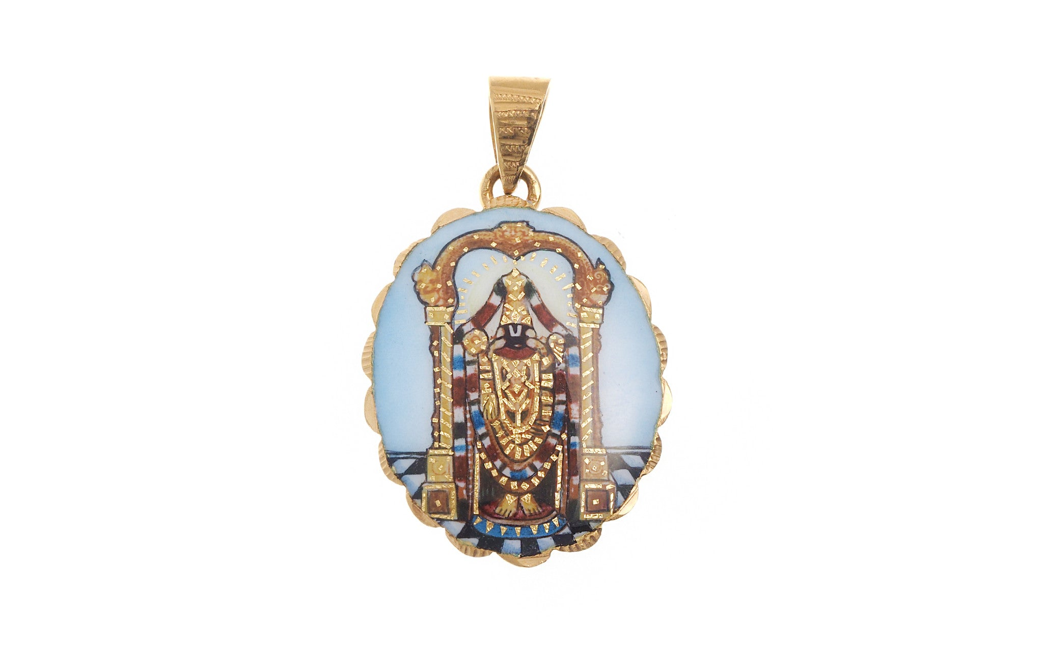 22ct Yellow Gold Balaji Pendant (G5323), Minar Jewellers - 2