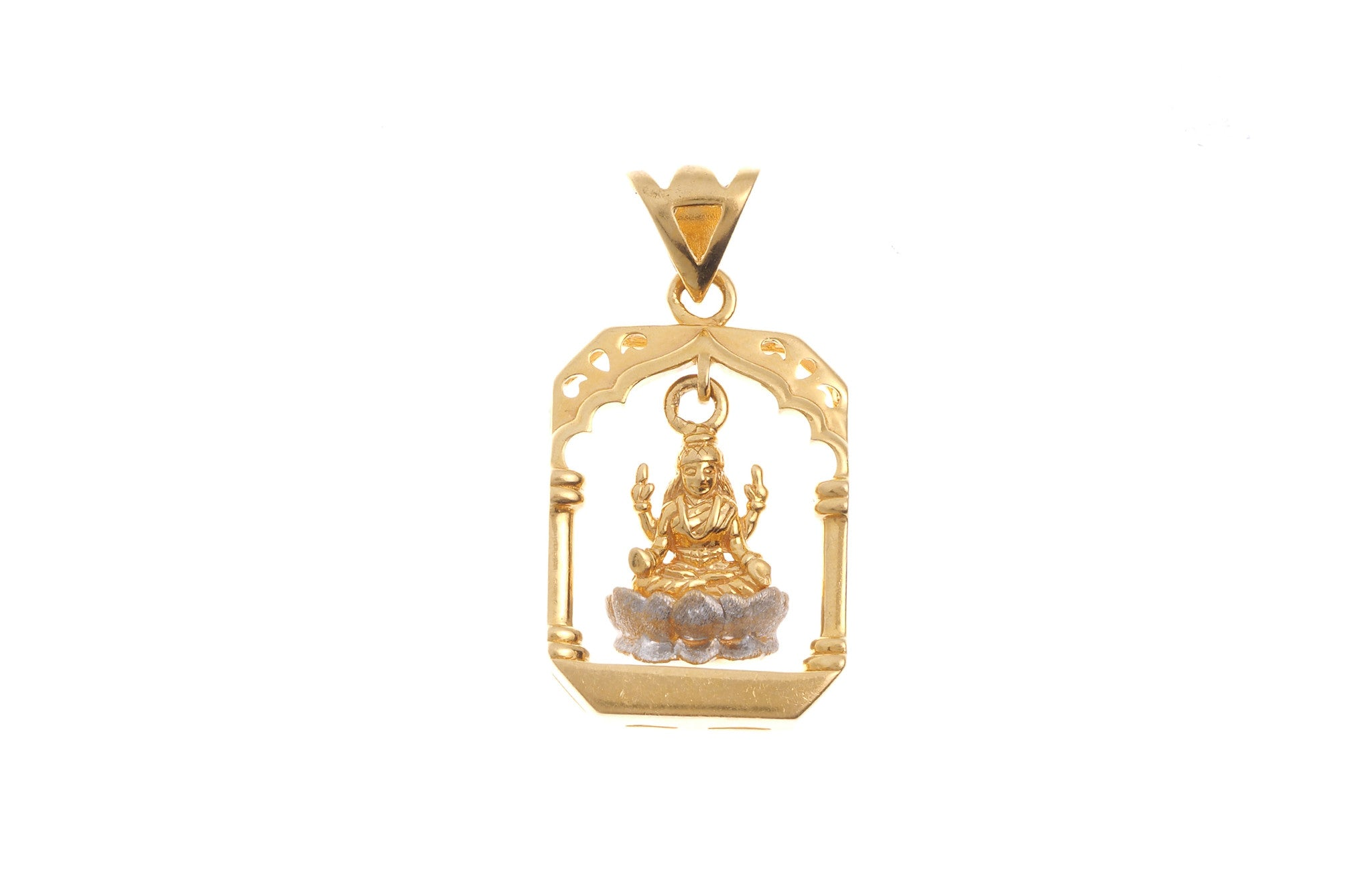 22ct Yellow Gold Lakshmi Pendant (G5337), Minar Jewellers - 2