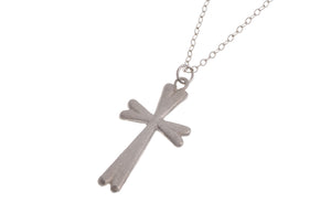 "Sterling Silver Cross Pendant with Chain 16"" (G5352), Minar Jewellers - 1"