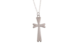 "Sterling Silver Cross Pendant with Chain 16"" (G5352), Minar Jewellers - 2"