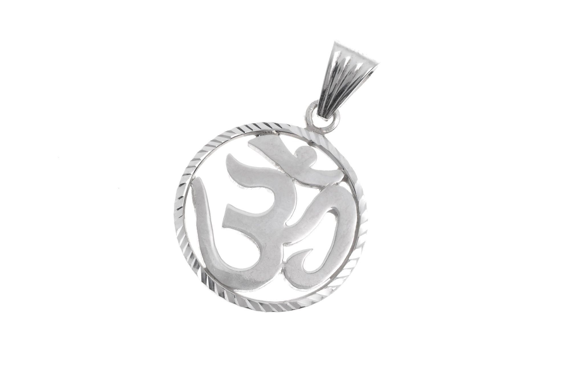 Sterling Silver Om Pendant (P-5016)