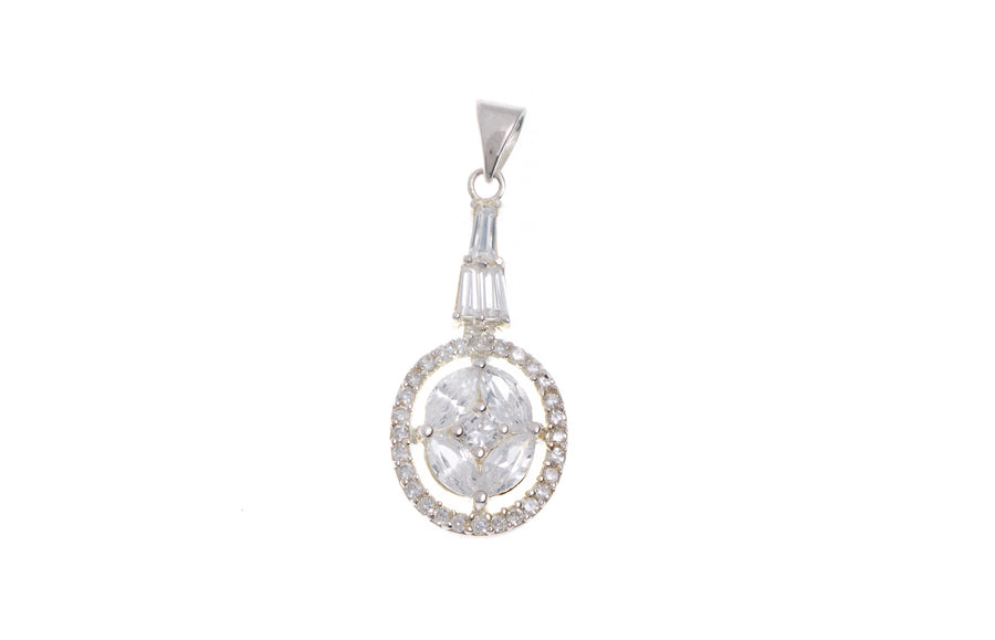 Sterling Silver Cubic Zirconia Pendant (G5356), Minar Jewellers - 1