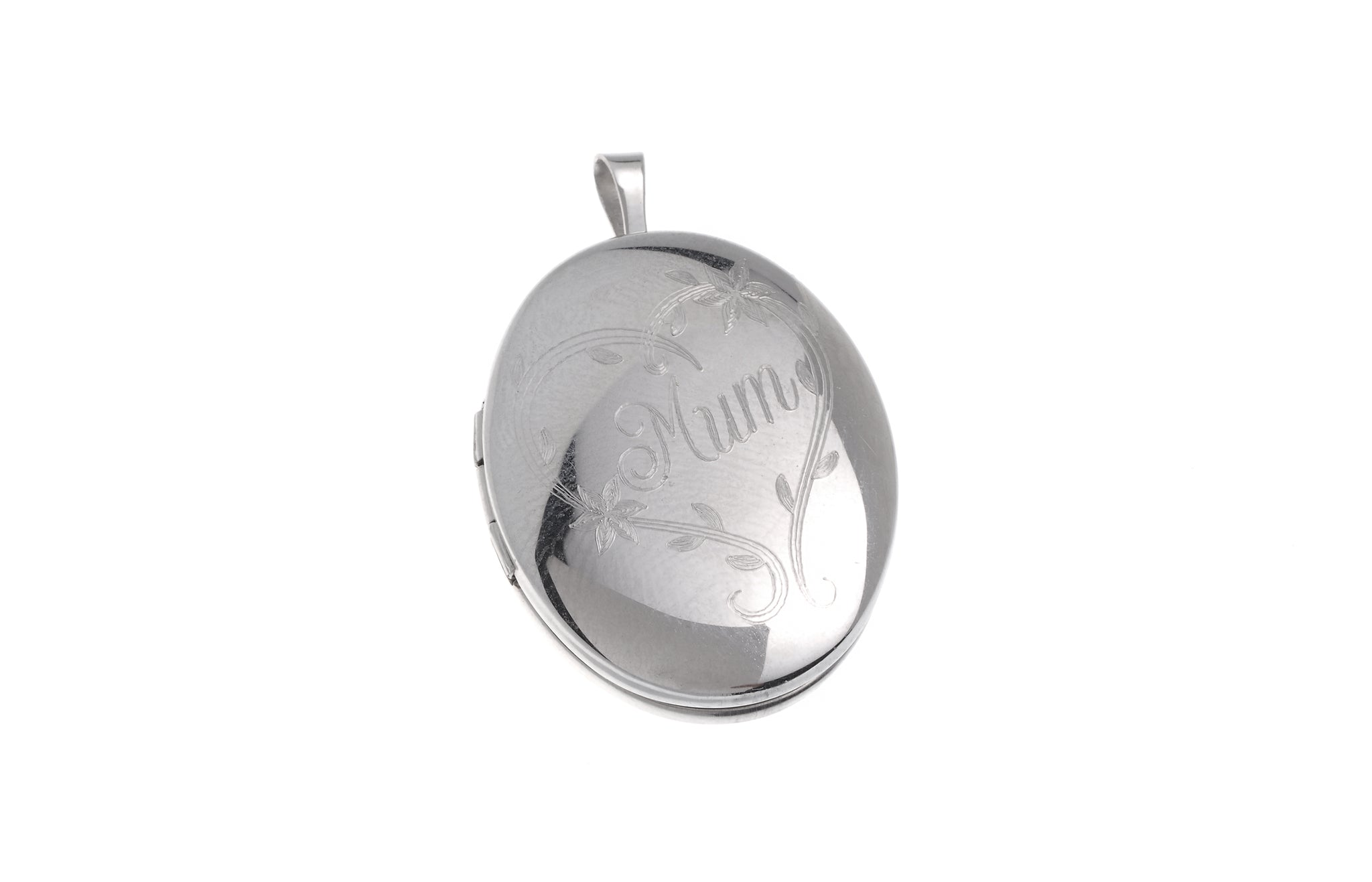 Sterling Silver 'Mum' Locket Pendant (P-5019)