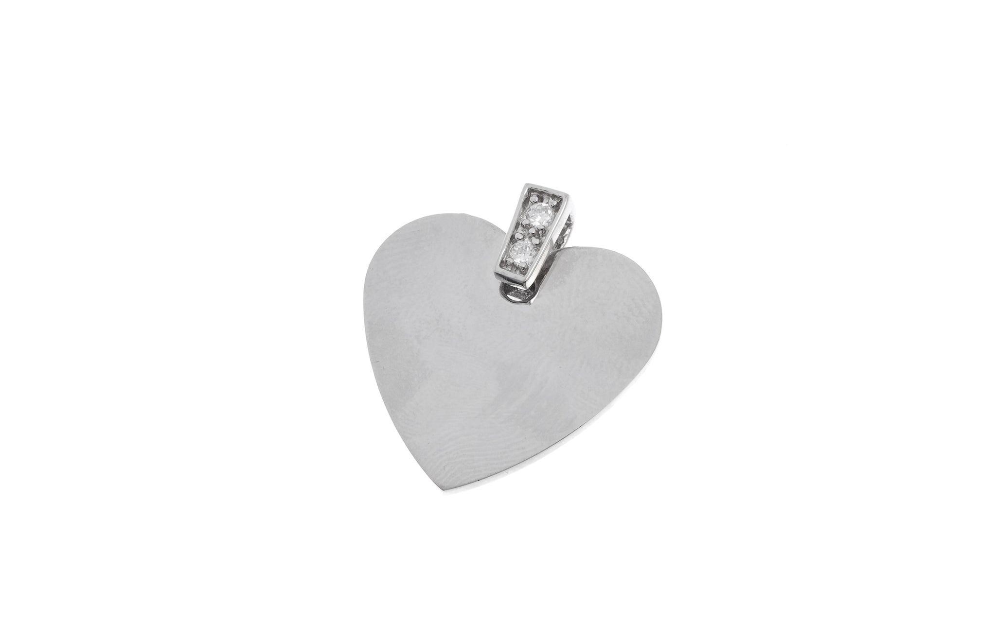 Sterling Silver Cubic Zirconia Heart Pendant (P-5021)