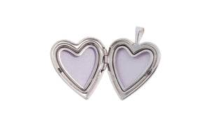 Sterling Silver Heart Locket Pendant (G5361), Minar Jewellers - 3