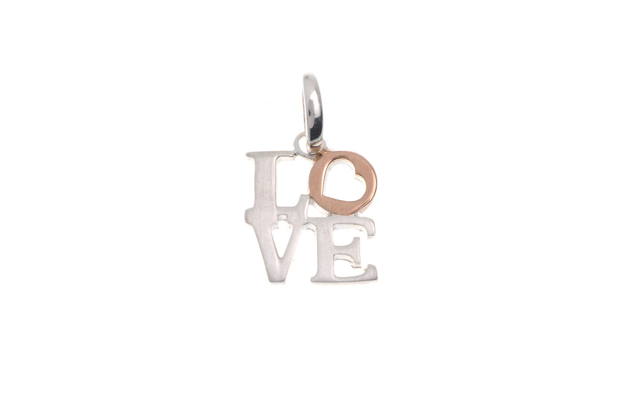 Sterling Silver 'Love' Pendant (G5378), Minar Jewellers - 1