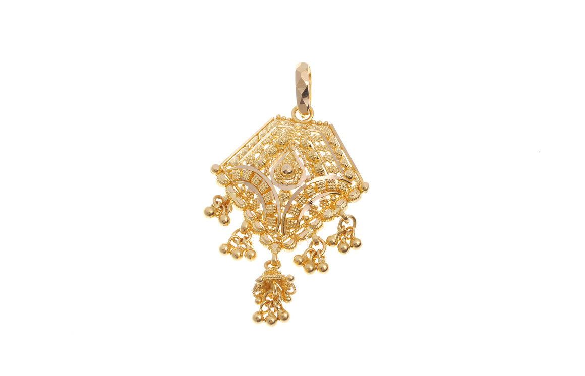 22ct Yellow Gold Fancy Pendant (G5407), Minar Jewellers - 1