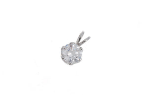 18ct White Gold Cubic Zirconia Pendant, Minar Jewellers - 1