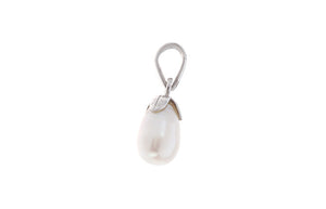 18ct White Gold & Cultured Pearl Pendant, Minar Jewellers - 1